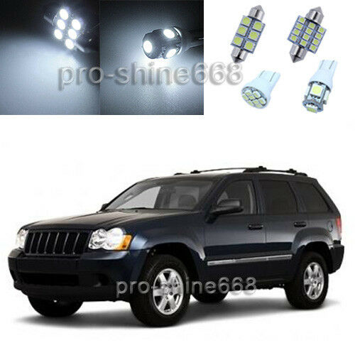 12pcs white led lights interior package for jeep grand - 2015 jeep grand cherokee led interior lights ...