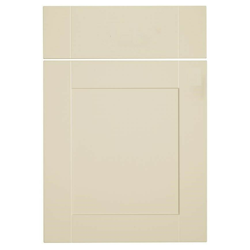 Matt cream shaker kitchen unit cupboard doors drawers for Kitchen cupboard units