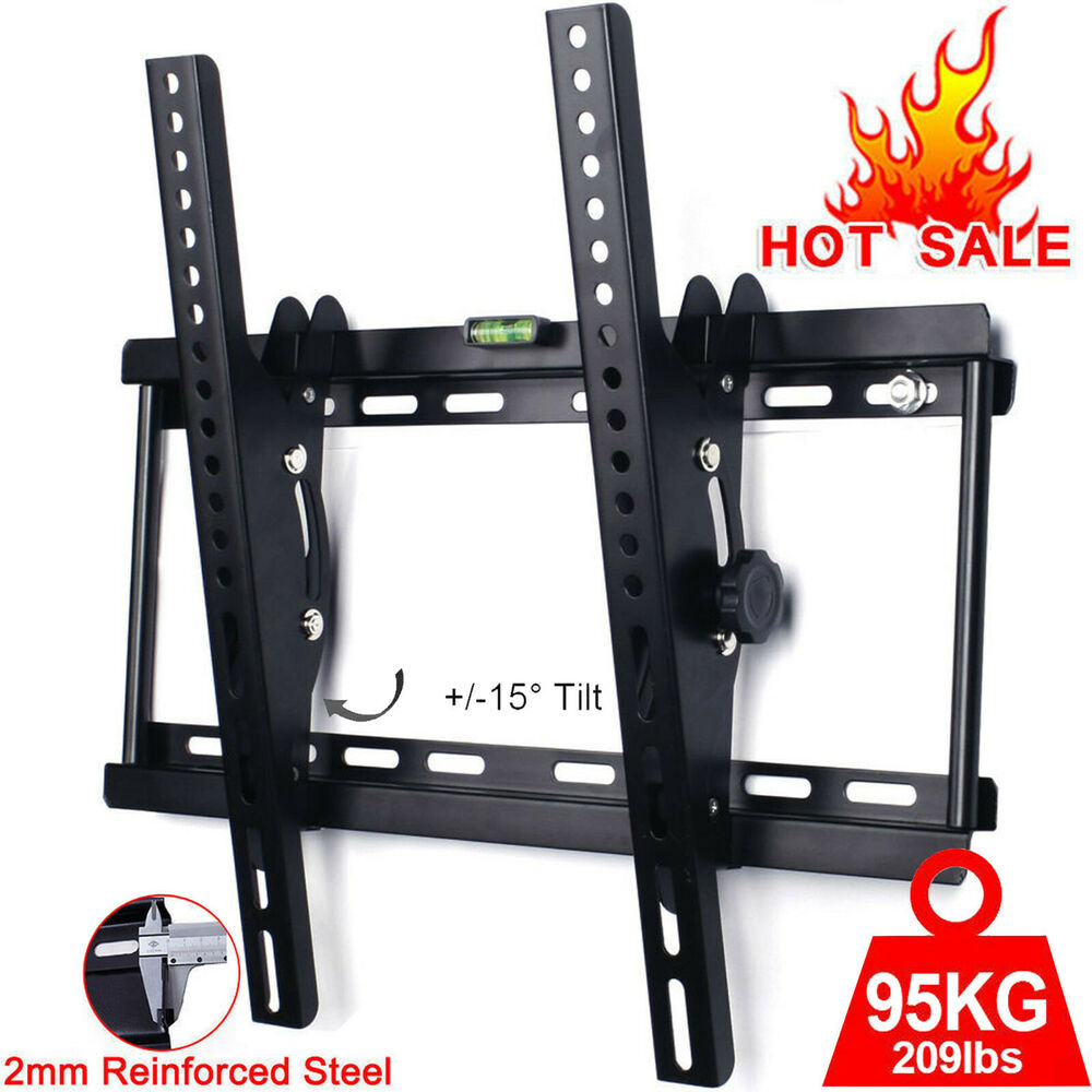 tilt tv wall bracket mount plasma led lcd 3d 26 32 34 37 40 42 46 48 50 55 09 ebay. Black Bedroom Furniture Sets. Home Design Ideas