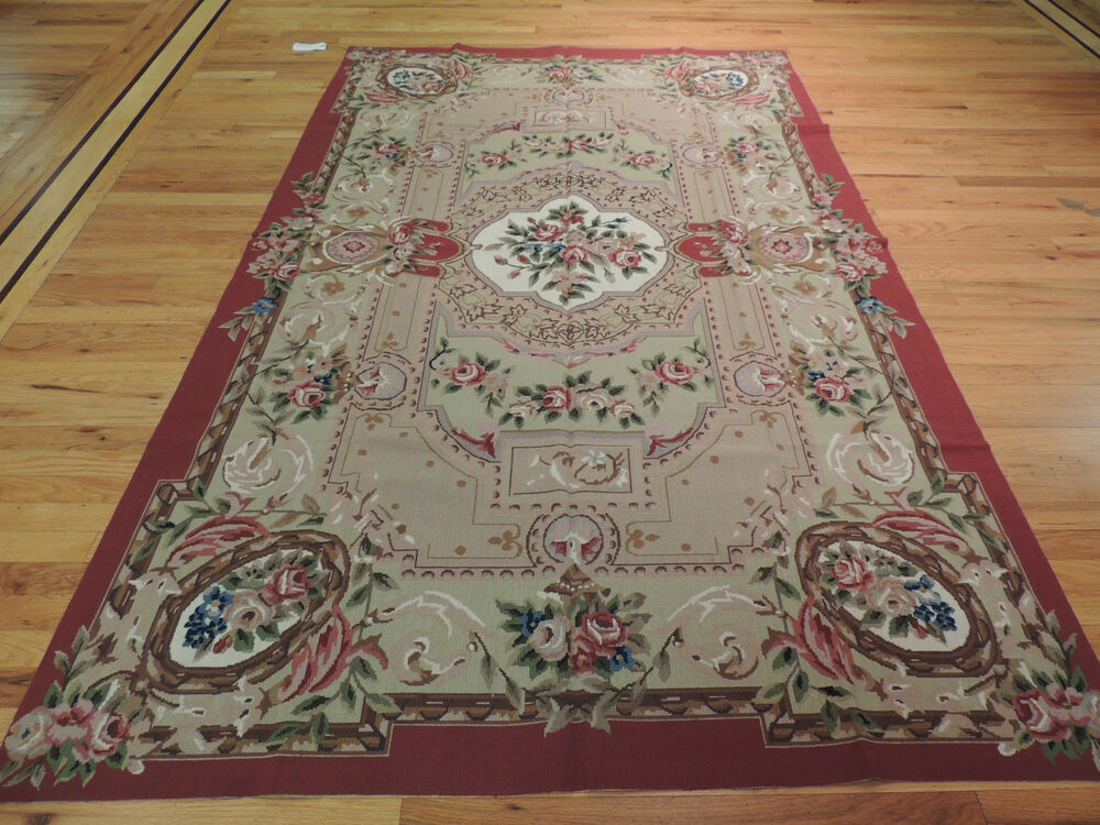 Superb French Aubusson Needlepoint Oriental Area Rug