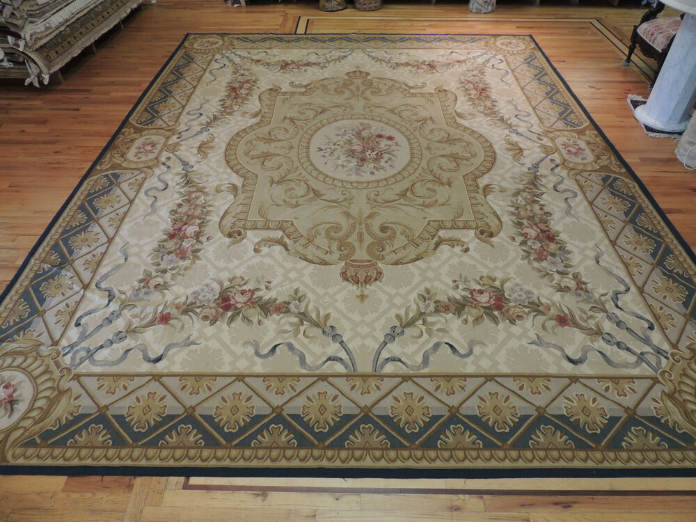 Dazzling Palace Oversize French Aubusson Design Oriental