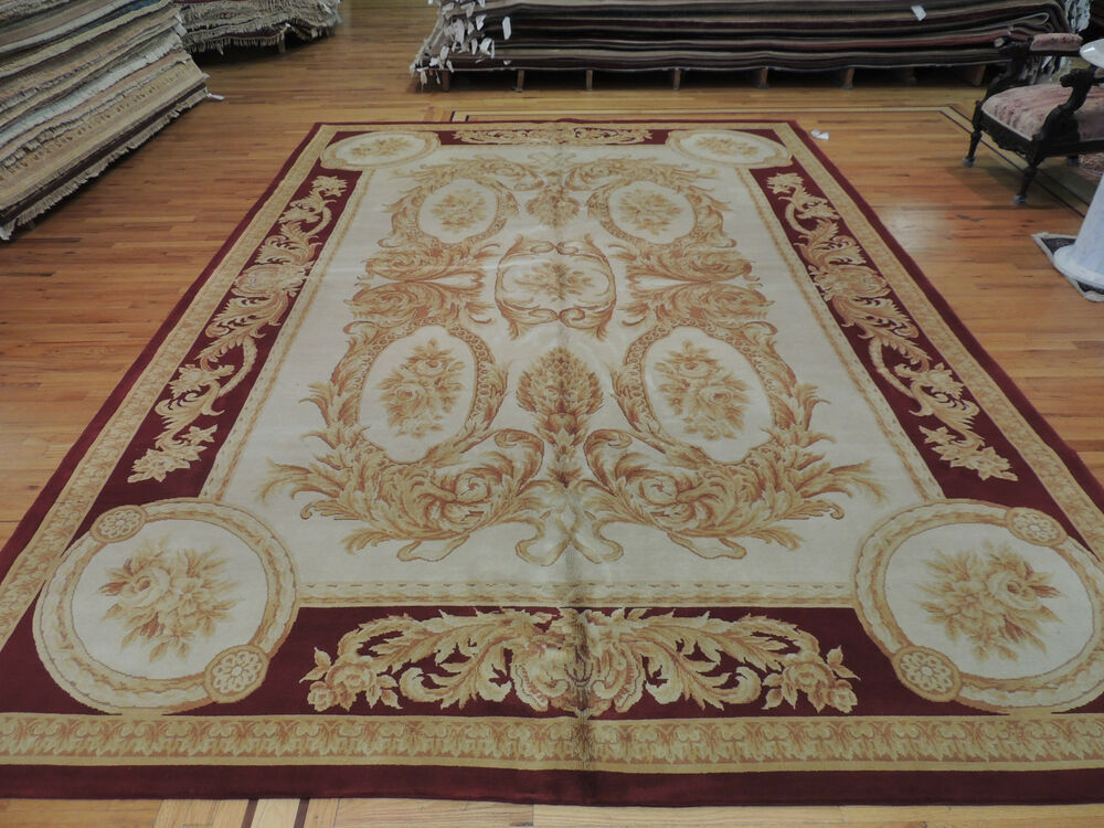 Oversize palace french savonnerie oriental area rug carpet for Red and gold area rugs