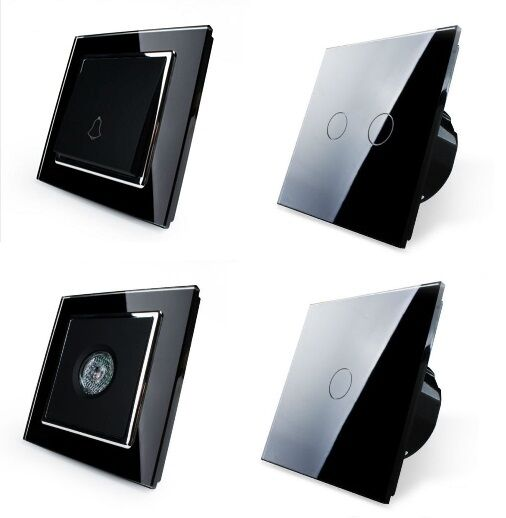 lichtschalter glas touchscreen wechselschalter. Black Bedroom Furniture Sets. Home Design Ideas