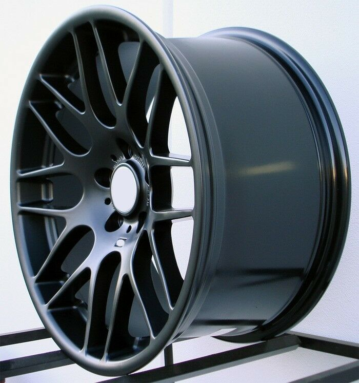 18 wheels for bmw 328xi 325xi 330xi 335xi 18x8 5 inch black rims set 4 ebay. Black Bedroom Furniture Sets. Home Design Ideas