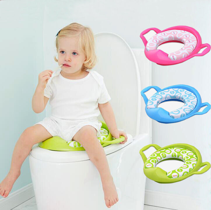 toddler toilet seat baby toddler potty trainer soft padded toilet seat 29227