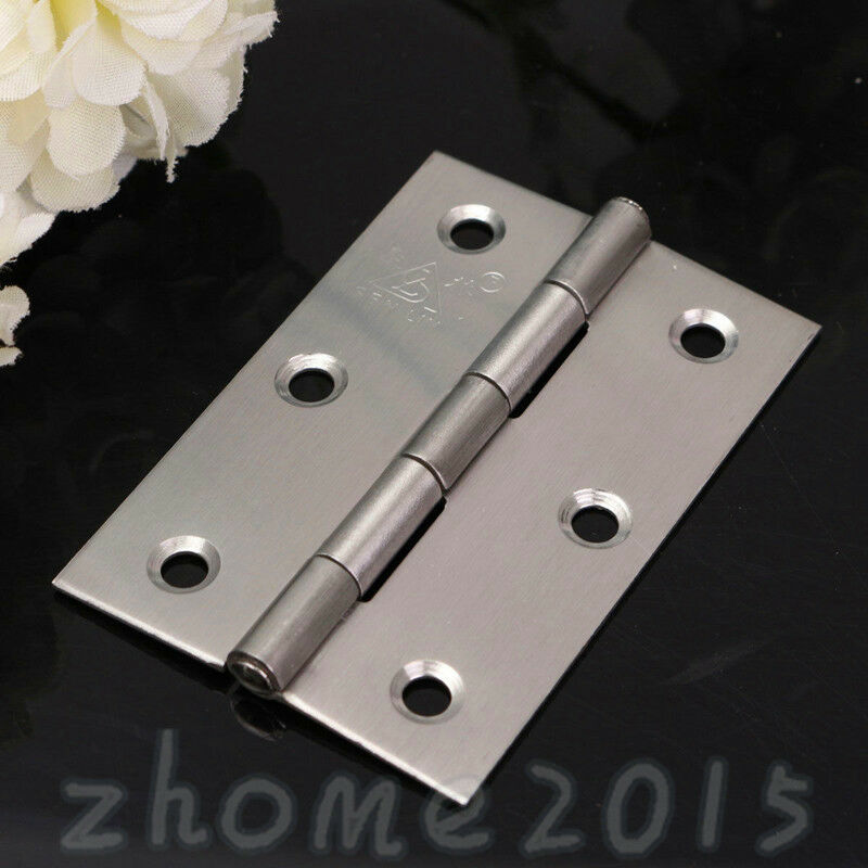 1 4x Butt Hinges Door Gate Cabinet Cupboard Metal Fixed
