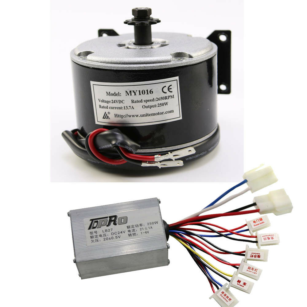 My1016 250w 24v dc electric motor speed controller for Speed control electric motor