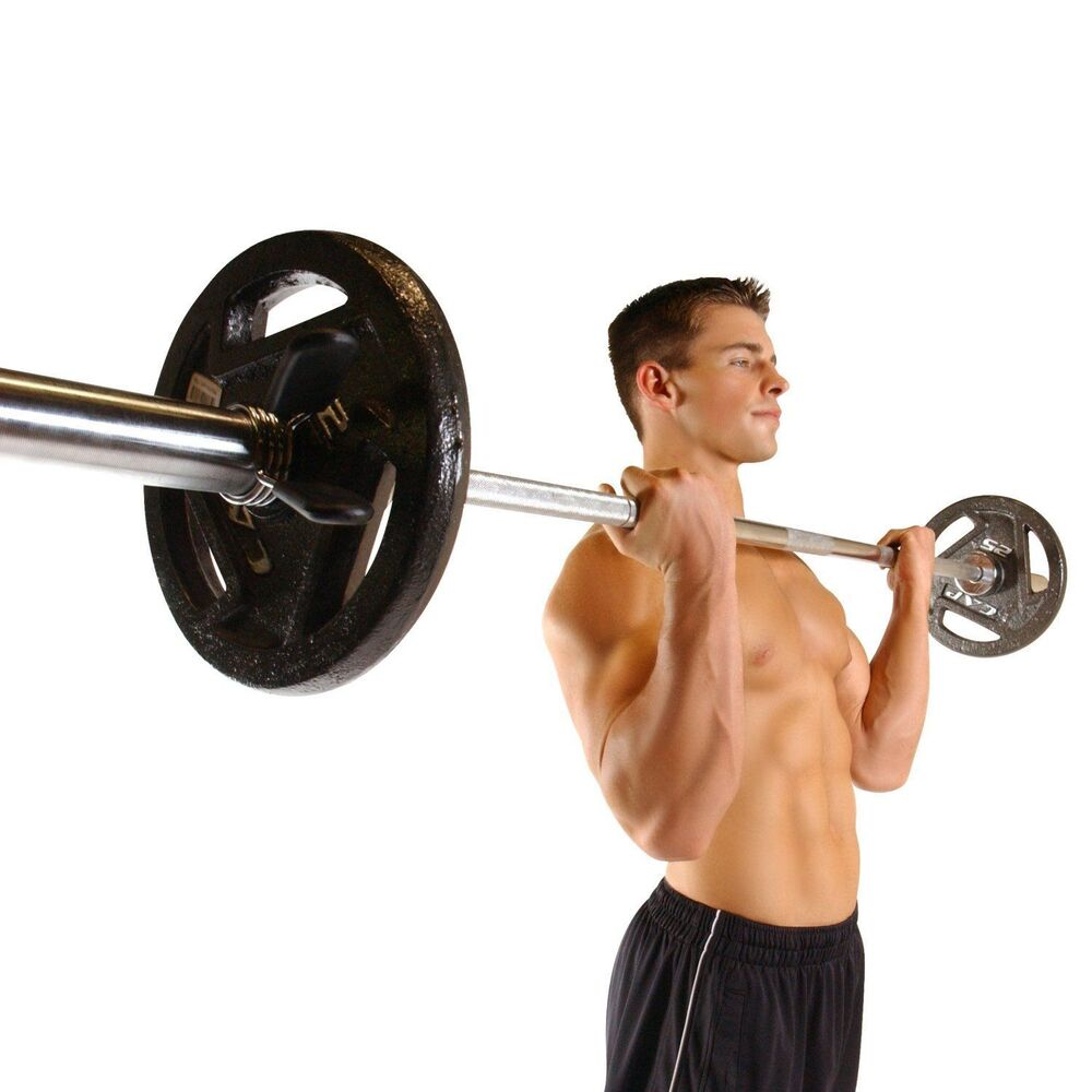 New Sports Exercise Training Fitness Weight Lifting Gym: 5 Foot Olympic Bar Weight Lifting Biceps Crossfit GYM
