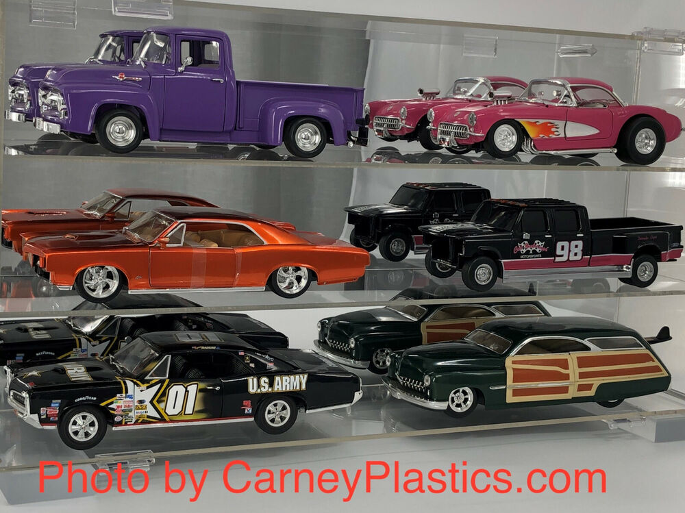 model 1 18 diecast display case 6 car muscle ss ebay. Black Bedroom Furniture Sets. Home Design Ideas