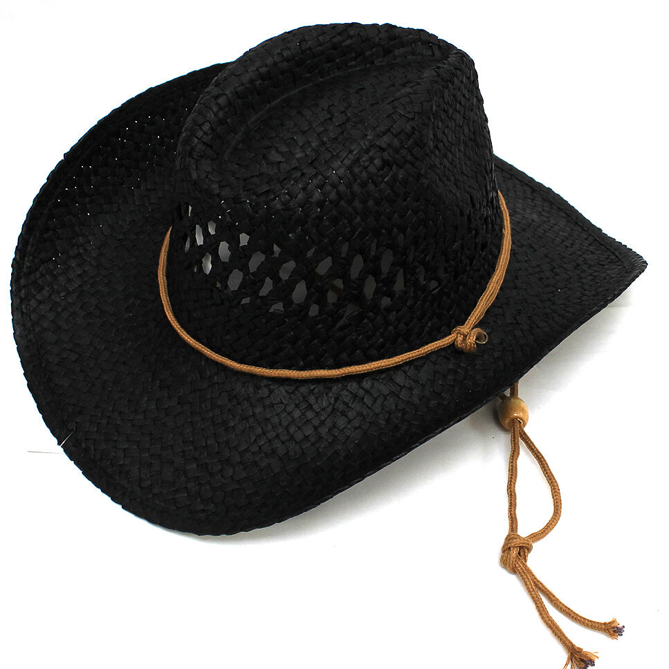 unisex mens womens hat outlaw straw cowboy hats western