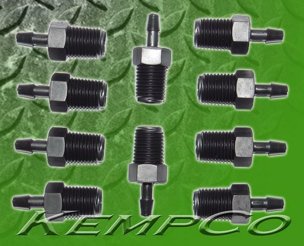 Quot npt hose barb straight adapter fittings