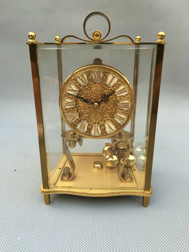 ancienne horloge pendule poser kundo allemande west germany french clock ebay. Black Bedroom Furniture Sets. Home Design Ideas