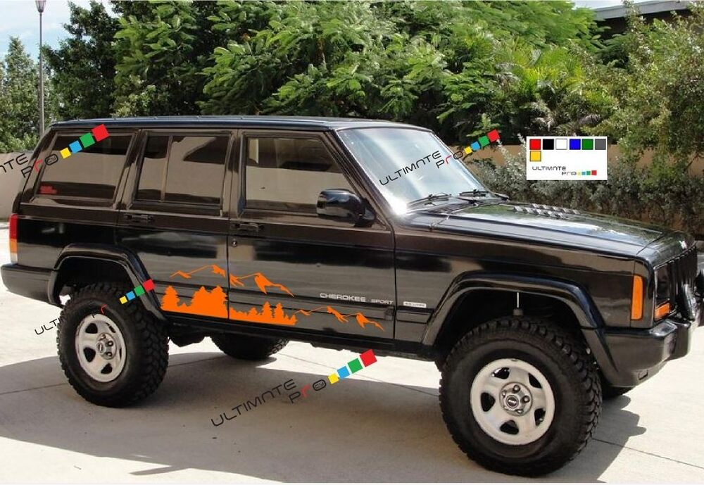 Decal Sticker For Jeep Cherokee Sport Mountain Off Shocks