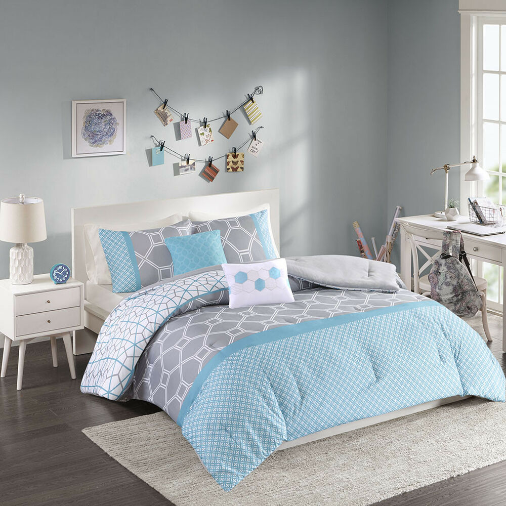 Purple And Grey Bedding