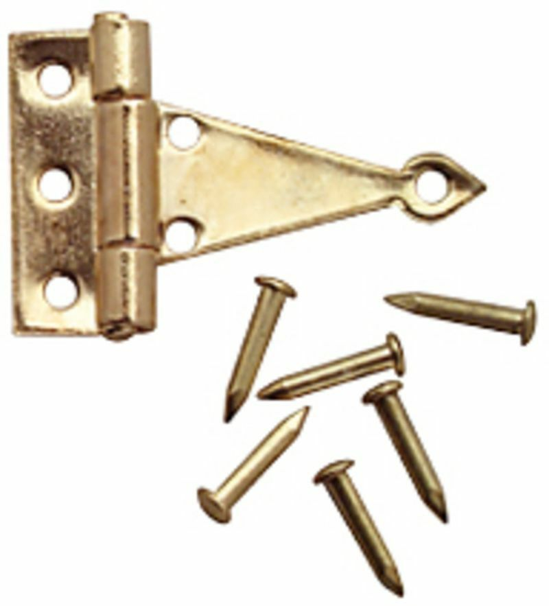 Dollhouse miniature brass t hinges with nails ebay