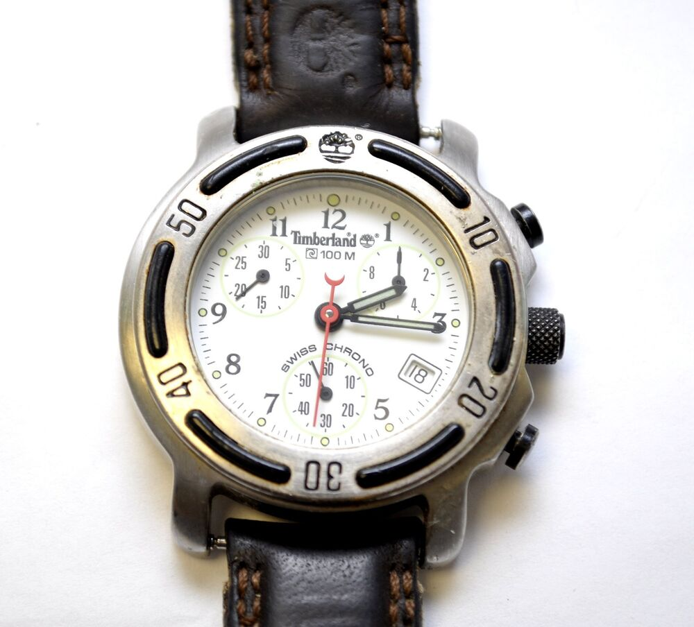 Vintage Mens Timberland Military Style 100m Chronograph ...