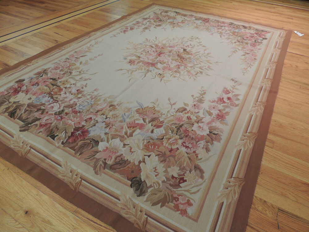 Lovely French Aubusson Design Oriental Area Rug Carpet 5x7