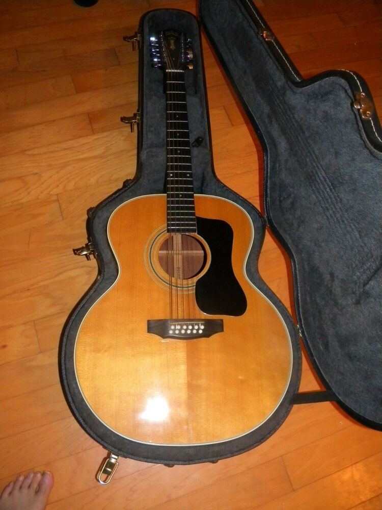 usa made guild f212xl acoustic electric guitar with ohsc international shipping ebay. Black Bedroom Furniture Sets. Home Design Ideas