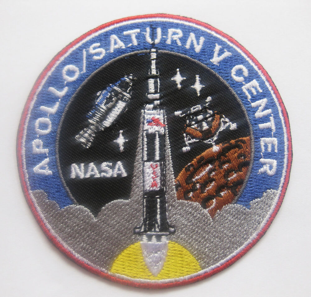 NASA APOLLO 11 SATURN V CENTER Badge Patch 8x8 cm 3.1"