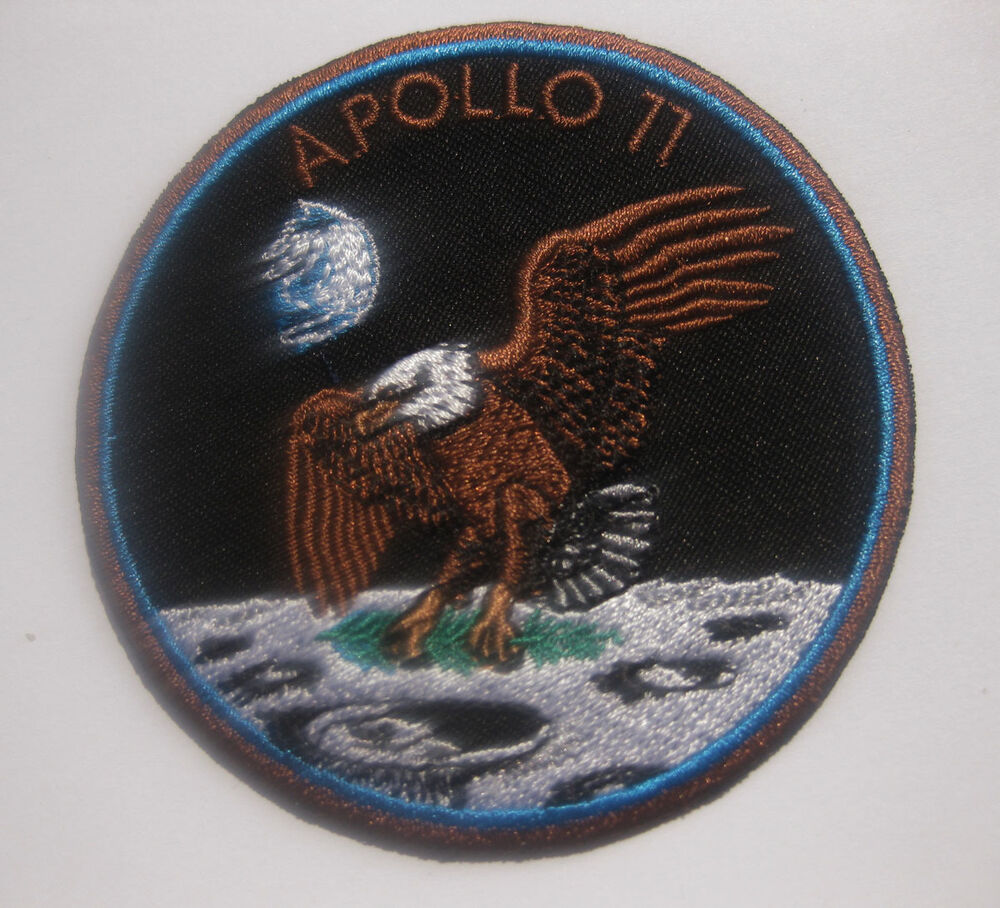 "NASA APOLLO 11 XI 40TH Badge Patch 8x8 cm 3.1"" B 