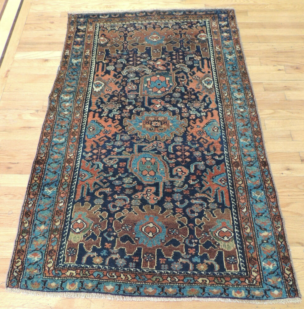 Unique Small Antique Persian Oriental Area Rug Carpet 3x5