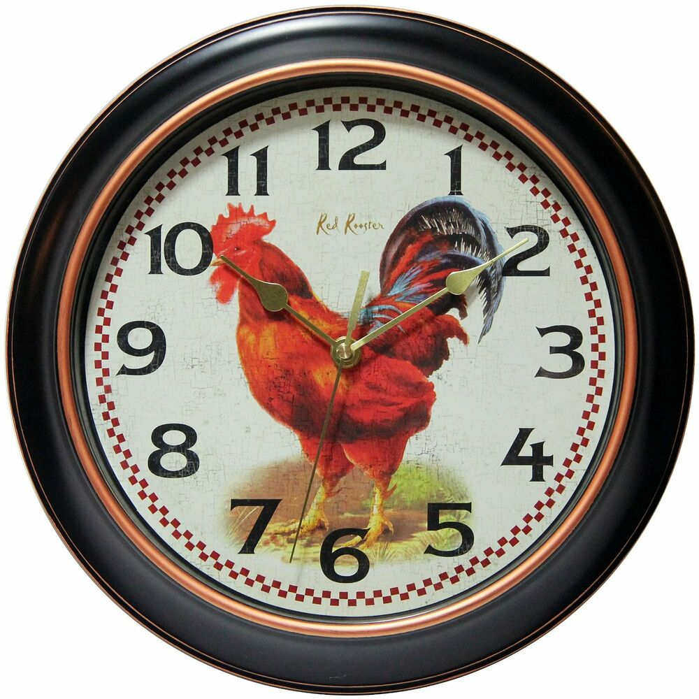 New Rotterdam Round Wall Clock 12 Decor Kitchen Home