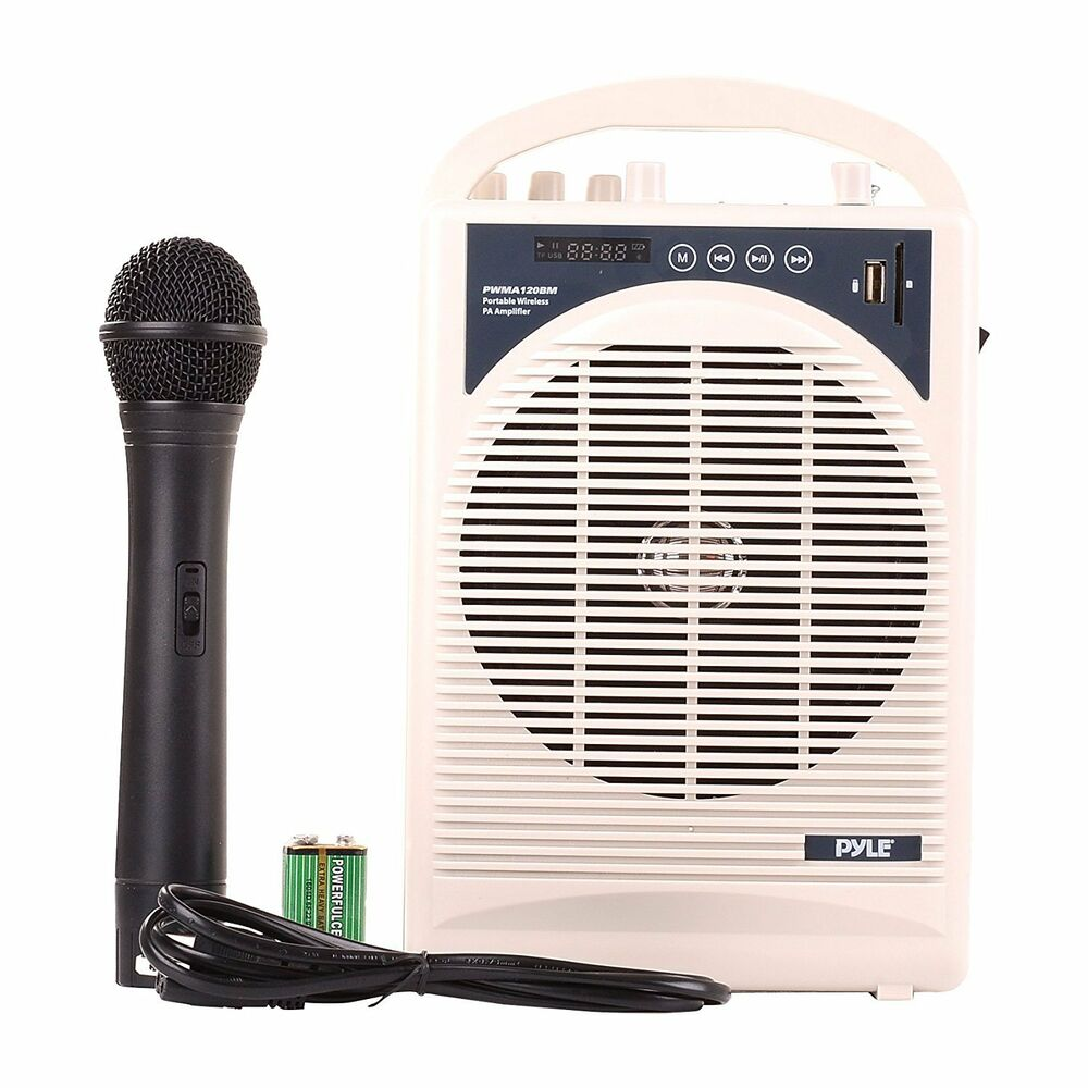 new portable pa speaker amplifier microphone system w blutooth ebay. Black Bedroom Furniture Sets. Home Design Ideas