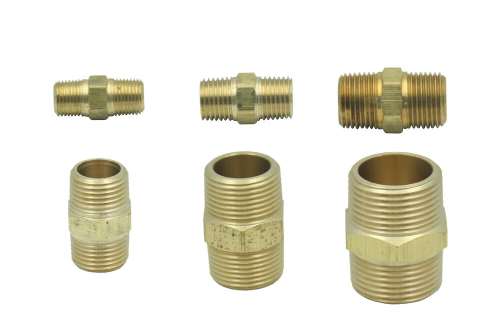 Brass male bspp hex coupling bsp pipe fittings connector