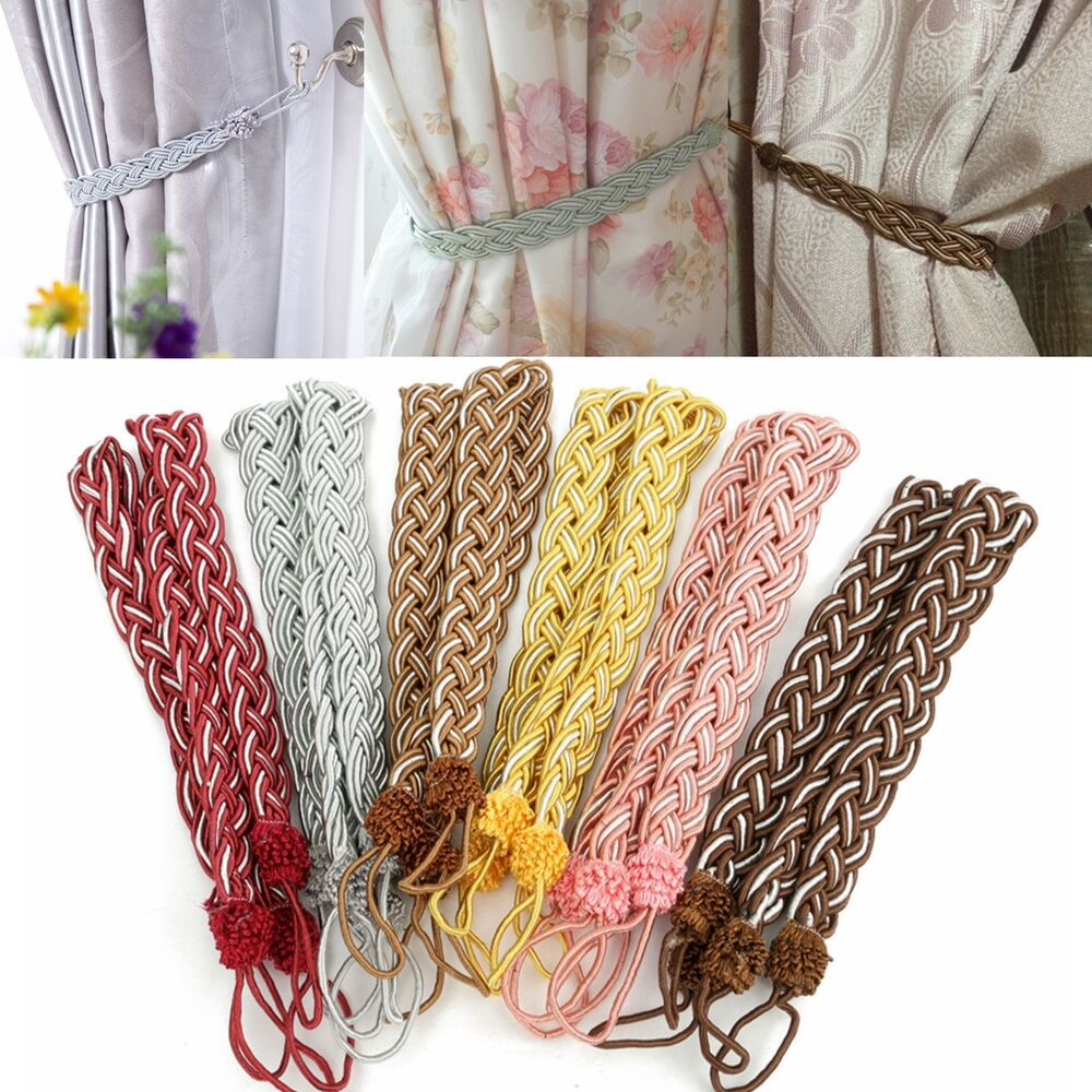 Large Tassels Home Decor: 2pcs Cotton Rope Tassel Window Curtain Fringe Tiebacks Tie
