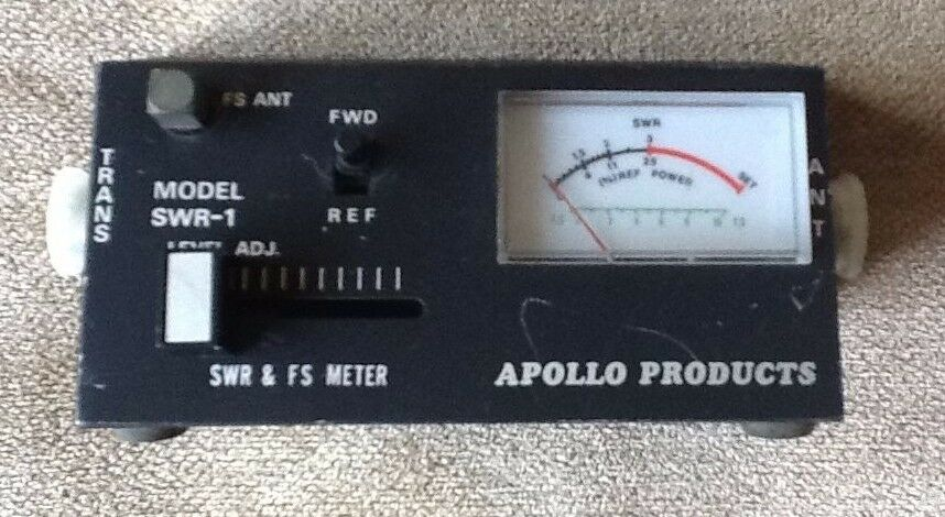 Vintage Apollo Products Model Swr 1 Radio Meter Trans Ant Ebay