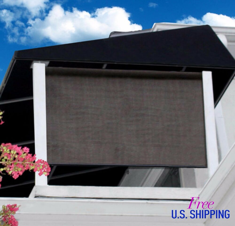 Outdoor Window Shade Exterior Solar Roll Up Patio Curtain