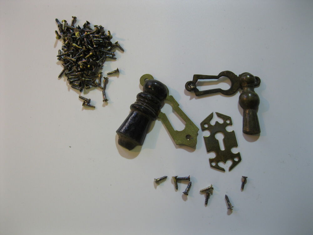 10 Old Brass Slotted Countersunk Screws 3 8 Quot No 2 Ebay