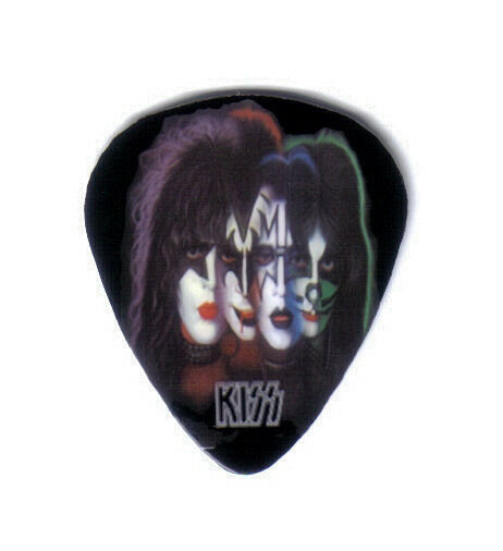 kiss solo albums faces art work collector guitar pick really cool ebay. Black Bedroom Furniture Sets. Home Design Ideas