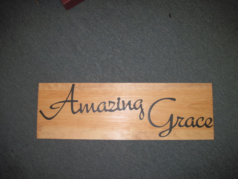 Amazing Grace-Black Wrought Iron Wall Art Metal Home Decor