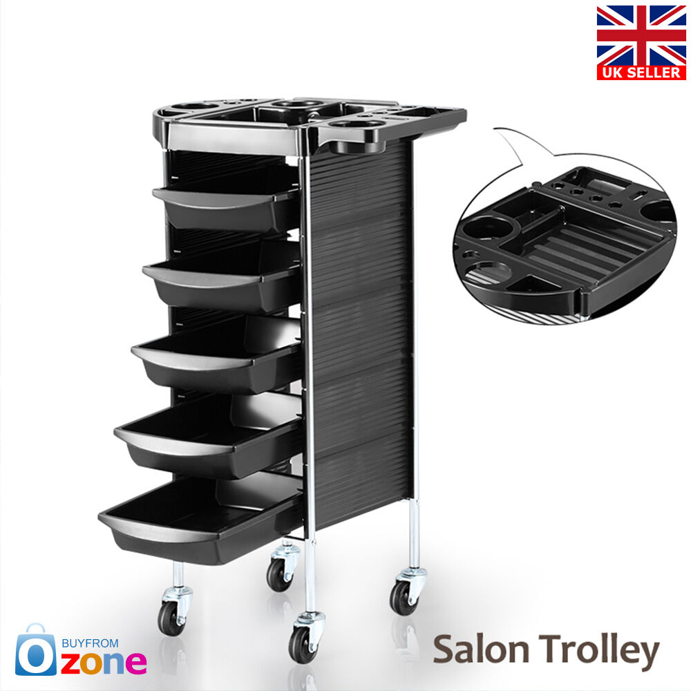 Salon hairdresser beauty spa coloring hair trolley rolling for Salon trolley