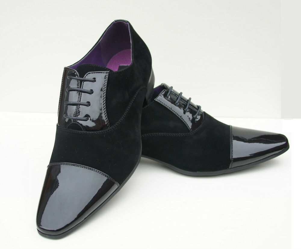 mens patent shoes wedding black suede leather italian