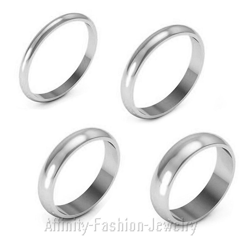 solid14k white gold 2mm 3mm 4mm 5mm comfort fit