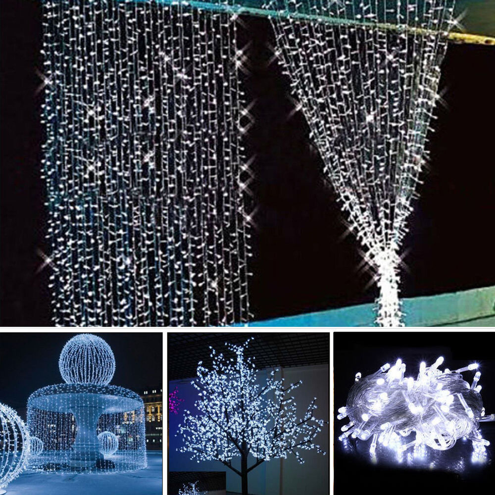Led Outdoor Party String Lights: 10M 100 LED Christmas Wedding Xmas Party Decor Outdoor