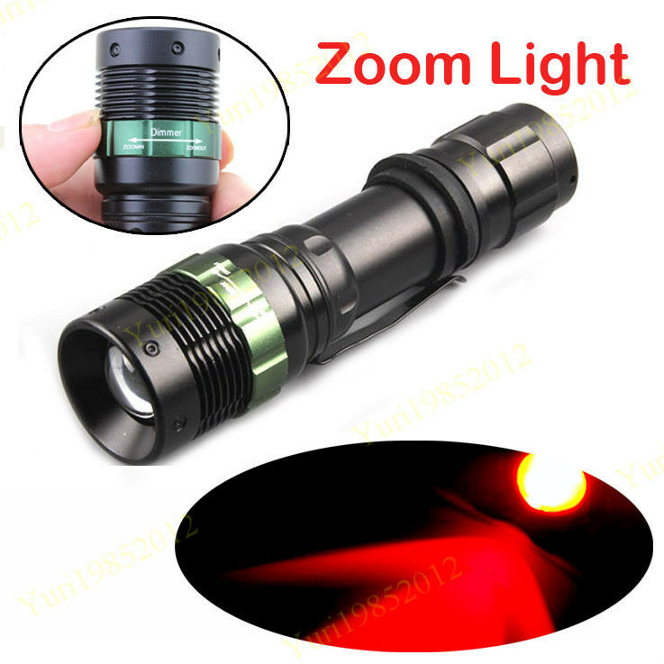 3 watt night patrol hunting 625nm red zoom light led torch light flashlight ebay. Black Bedroom Furniture Sets. Home Design Ideas