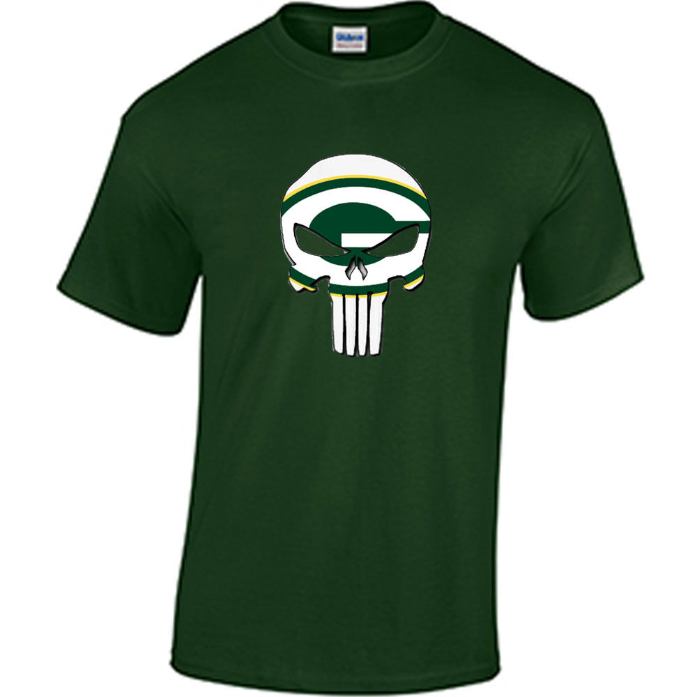Green bay packers t shirt packers punisher t shirt packers for South bay t shirts