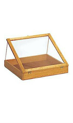 Portable Exhibition Display Cases : Natural pine portable inch wood countertop display cases