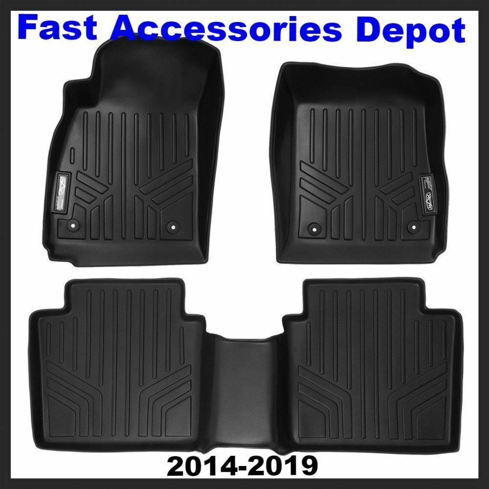 MAXFLOORMAT All Weather Custom Fit Floor Mats Full Set For