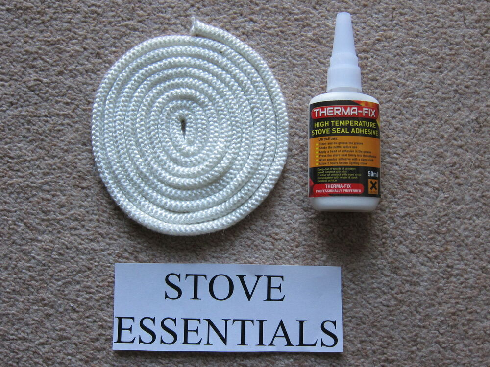 Stove door rope seal kit 6mm 2 metres with glue morso ebay for 14mm stove door rope