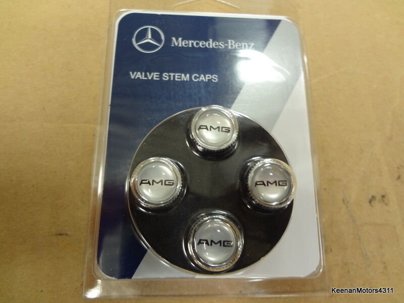 Genuine Oem Mercedes Benz Amg Tire Valve Stem Caps Set Of