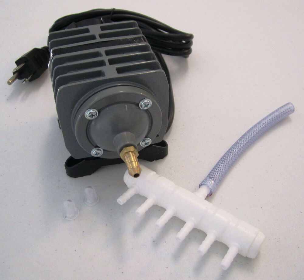 Commercial air pump 571 gph or lpm for hydroponics for Hydroponic air pump