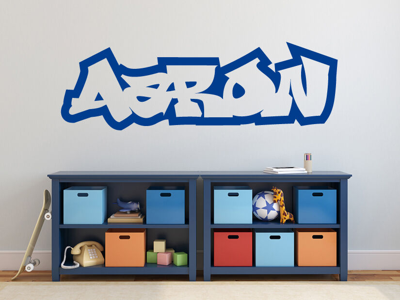 name graffiti schrift hiphop jugendzimmer kinderzimmer wandaufkleber wandtattoo ebay. Black Bedroom Furniture Sets. Home Design Ideas