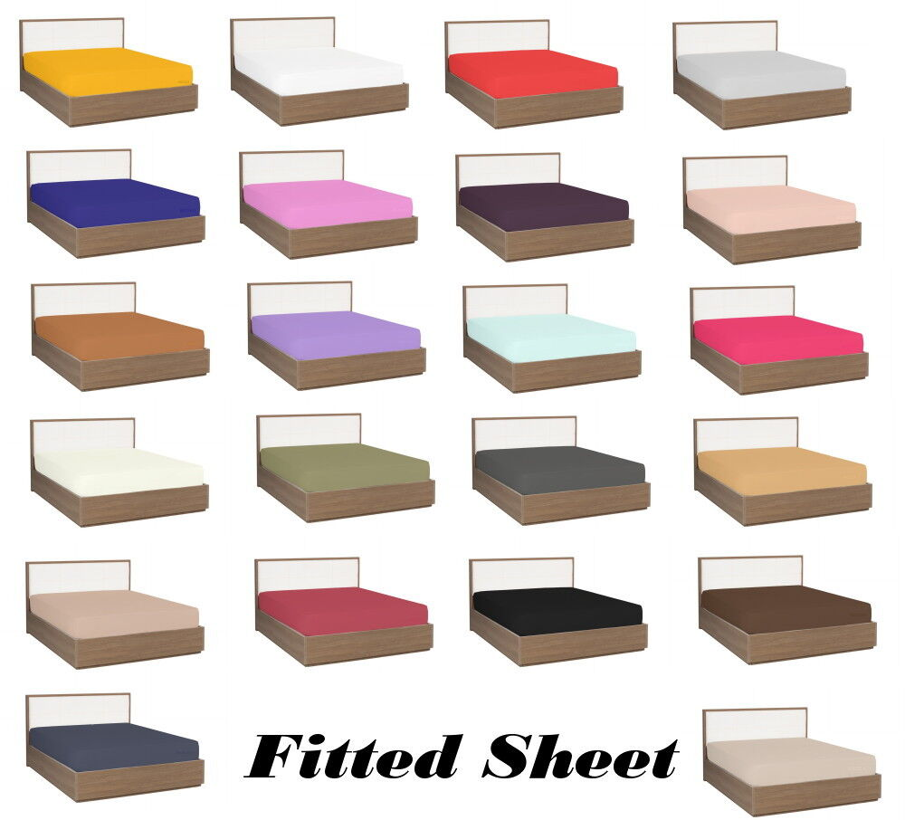 Ultra Soft 1800 Collection Brushed Microfiber Fitted Sheet