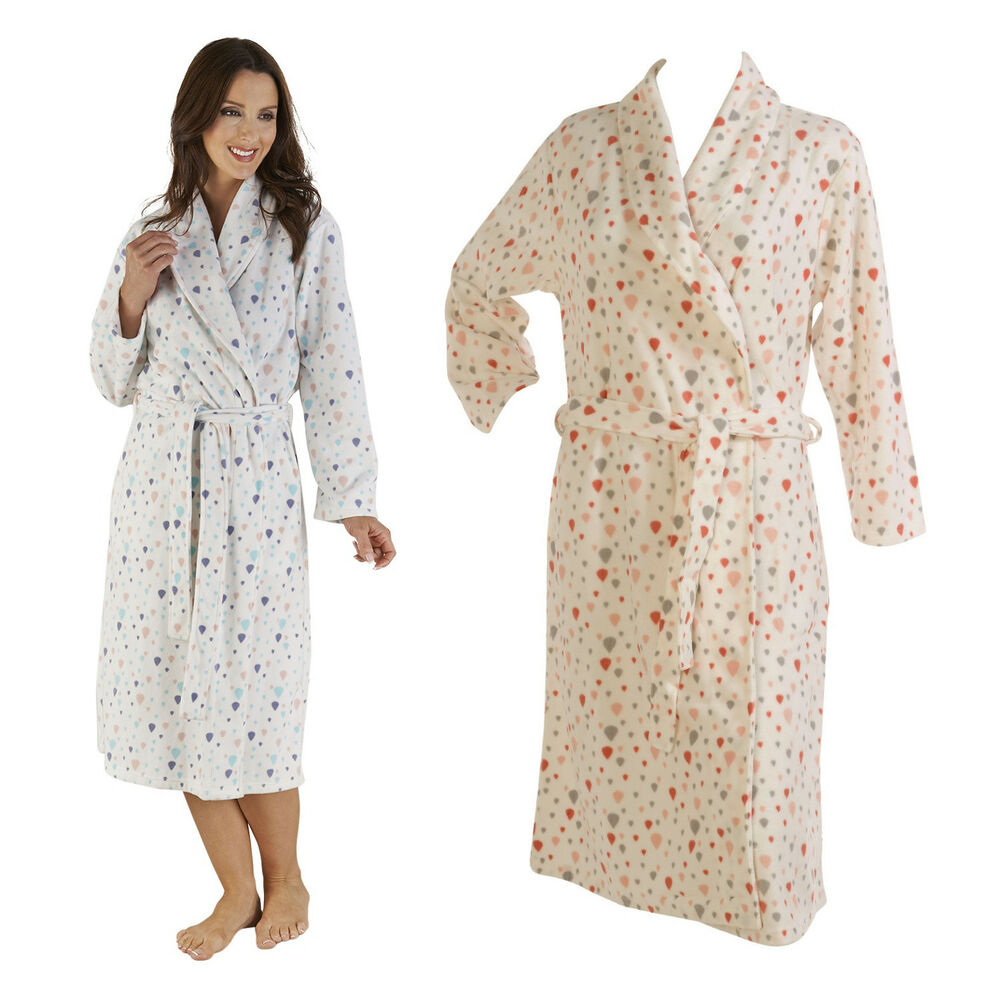 bathrobe ladies soft micro fleece dressing gown. Black Bedroom Furniture Sets. Home Design Ideas