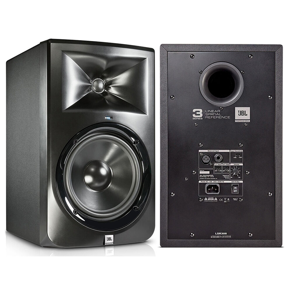 jbl lsr308 8 two way bi amplified powered studio reference speaker monitor pair ebay. Black Bedroom Furniture Sets. Home Design Ideas