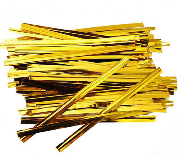 Cable Twist Tie : Pcs metallic gold twist ties wire for cello bags cake